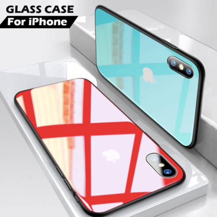 new concept ac52b 0ac7e WITH LOGO IPHONE PREMIUM GLASS BACK TEMPERED GLASS CASE