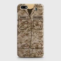 HUAWEI Y5 PRIME 2018 ARMY SHIRT WITH CUSTOM NAME CASE
