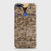 HUAWEI Y6 PRIME 2018 ARMY SHIRT WITH CUSTOM NAME CASE