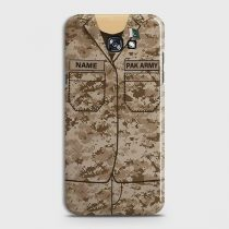 SAMSUNG GALAXY A3 2017 ARMY SHIRT WITH CUSTOM NAME CASE