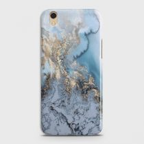 OPPO F1 PLUS GOLDEN BLUE MARBLE CASE
