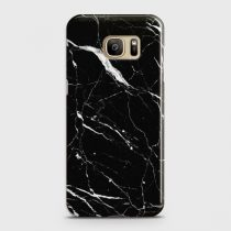 SAMSUNG GALAXY S7 EDGE TRENDY BLACK MARBLE DESIGN CASE