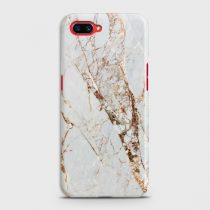 OPPO A5 WHITE & GOLD MARBLE CASE