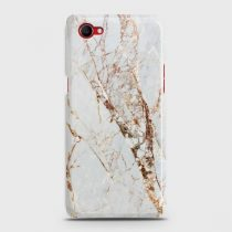 OPPO F7 YOUTH WHITE & GOLD MARBLE CASE