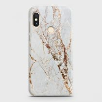 XIAOMI REDMI NOTE 6 PRO WHITE & GOLD MARBLE CASE