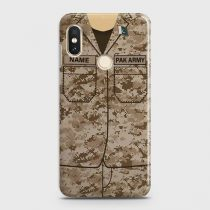 XIAOMI REDMI NOTE 6 PRO ARMY COSTUME WITH CUSTOM NAME CASE