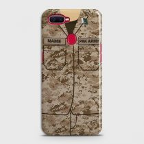 OPPO A7 ARMY COSTUME WITH CUSTOM NAME CASE