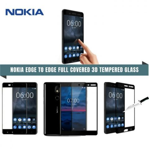 NOKIA EDGE TO EDGE FULL COVERED 3D TEMPERED GLASS PROTECTOR