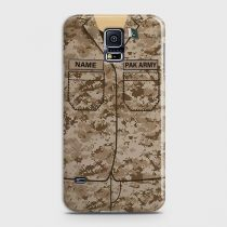 SAMSUNG GALAXY S5 ARMY SHIRT WITH CUSTOM NAME CASE