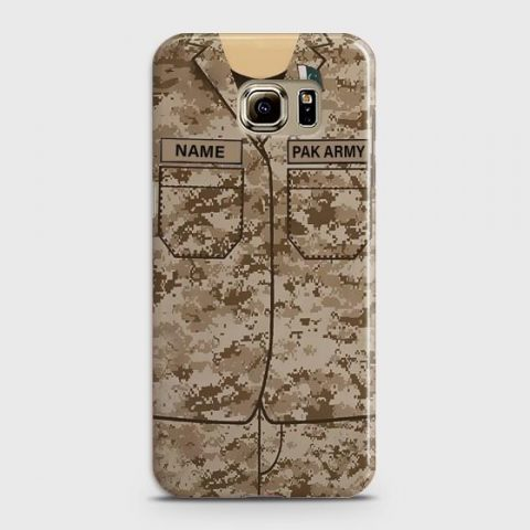SAMSUNG GALAXY S6 EDGE PLUS ARMY SHIRT WITH CUSTOM NAME CASE