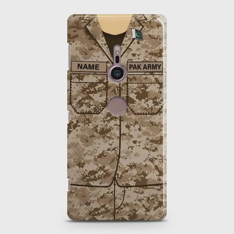 SONY XPERIA XZ 2 ARMY COSTUME WITH CUSTOM NAME CASE
