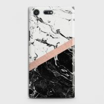 SONY XPERIA XZ PREMIUM BLACK & WHITE MARBLE WITH CHIC ROSEGOLD CASE