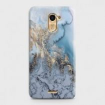 INFINIX HOT 4 (X557) GOLDEN BLUE MARBLE CASE