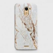INFINIX HOT 4 (X557) WHITE & GOLD MARBLE CASE