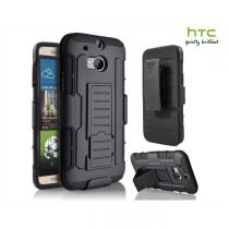 MILITARY STYLE TOUGH HYBRID 3 IN 1 3D KICKSTAND BELT CLIP ARMOUR CASE FOR HTC M9