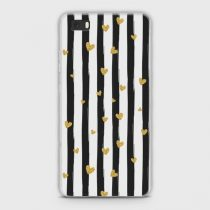 HUAWEI P8 LITE GLITTER HEART STRIPES CASE