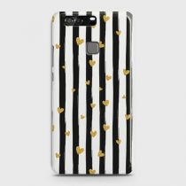 HUAWEI P9 WHITE & GOLD MARBLE CASE