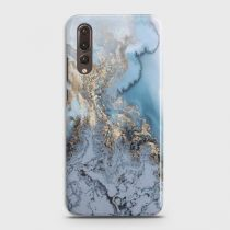 HUAWEI P20 PRO GOLDEN BLUE MARBLE CASE