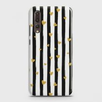 HUAWEI P20 PRO GLITTER HEART STRIPES CASE