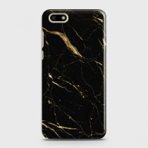 HUAWEI Y5 PRIME 2018 CLASSIC GOLDEN BLACK MARBLE CASE