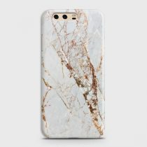 HUAWEI P10 WHITE & GOLD MARBLE CASE