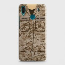 HUAWEI Y7 PRIME (2019) ARMY COSTUME WITH CUSTOM NAME CASE