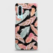 HUAWEI P30 COLORFUL FEATHER LEAVES CASE