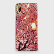 HUAWEI Y6 PRIME 2019 PINK BLOSSOMS LANTERNS CASE
